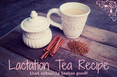 Milking it: Lactation Tea (that actually tastes good!) - Made with fenugreek, creamer, and cinnamon.  She says the creamer cuts the bitterness of the fenugreek.  TRYING NOW!