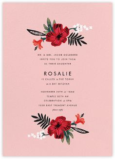 Kona Floral (Invitation) - Pavlova - Paperless Post