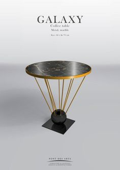 Galaxy Side Table - Pont des Arts Studio - Designer Monzer Hammoud - Paris -