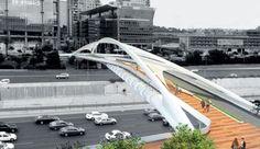 Planned Tel Aviv pedestrian and bike bridge Chen Architects