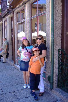 Em Guimarães, 2007, com os meus filhotes