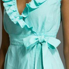 Aqua Portico Wrap Dress - J. Crew Bridesmaid Collection