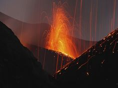 Stromboli Eruption, Aeolian Islands, North of #Sicily, #Italy