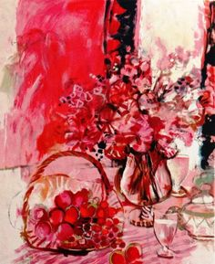 Engagement Prosperity Abundance Opulence bouquet Epicureans at table Sachiko IMAI Rose Red Original lithograph Wedding table EUR) by MarieArtCollection Red Wall Art, Paper Wall Art, Floral Wall Art, Photo Wall Art, Noisy Le Roi, Osaka Japon, Red Home Accessories, Dog Home Decor, Rose Oil Painting