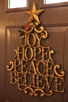 for the inside of the front door- love! i will probably do joy/noel/peace/savior