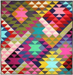 "Modern Prism Quilt by Tara Faughnan / 60x63"" / free pattern"