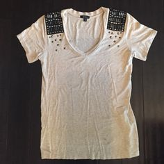 Xoxo top XOXO top with studs in good condition used size L.  Small stain shown in pic.   XOXO Tops