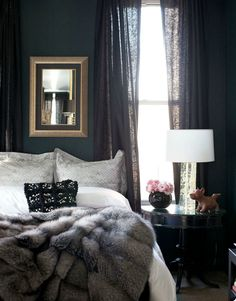 bedroom. dark charcoal grey. I can only imagine how well I would sleep.
