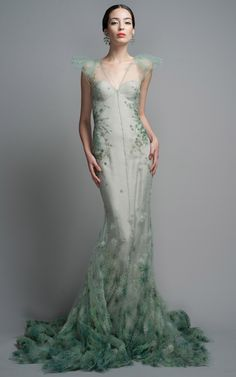 Shop Zac Posen Celadon ~ http://VIPsAccess.com/luxury-hotels-caribbean.html green dress