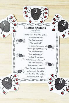 5 Little Spiders Preschool Circle Time Song - Fantastic Fun & Learning