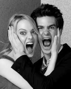 emma stone + andrew garfield, loved them in the amazing spiderman, even better as a real life couple. :)