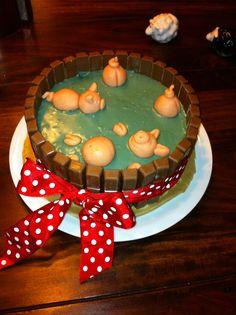 schweinische Torte, das Rezept findet ihr hier: http://www.annekratz.de/rezept-torte-schwein/