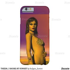 THEDA / SHORE AT SUNSET HYPERION WORLD Science Fiction BARELY THERE iPhone 6 CASE  #beauty #makeup #celtic #knots #gemstones #jewelry #jewel #woman