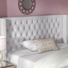 Candice Upholstered Wingback Headboard By Rosdorf Park Wingback Headboard, Queen Headboard, Panel Headboard, Bed Headboards, Bookcase Headboard, Headboard Ideas, Panel Bed, Bedroom Furniture, Bedroom Decor