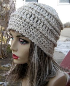 CROCHET PATTERN PDF - Instant Digital Download - Crocheted Chunky Textured Crochet Beanie - CaN sell finished pieces