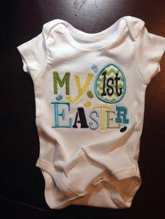 My First Easter Onesie for Boy by FinnAndBennie on Etsy, $20.00