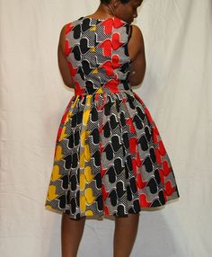 Fit and flare dress African Inspired by Beauje on Etsy, $95.00