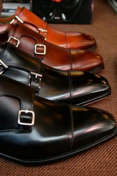 Double Monk Strap Shoes for Men