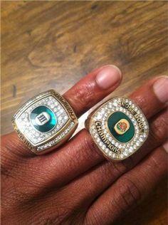 University of Oregon Ducks football - 2 championships - 2011 PAC-12 & 2012 Rose Bowl. Just bling - bling