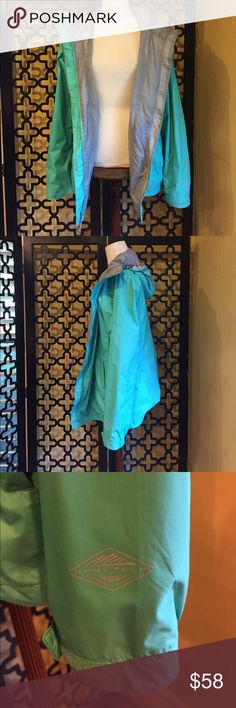 COLUMBIA TURQUOISE WIND BREAKER JACKET EUC! Worn minimal times. Perfect condition. No rips or stains! Perfect for a rainy day or day out on the boat! Measurements: 30in long, 25in sleeve length and 40in bust. Columbia Jackets & Coats Utility Jackets