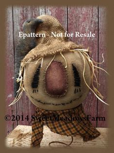 Your place to buy and sell all things handmade Primitive Fall Crafts, Primitive Scarecrows, Primitive Pumpkin, Autumn Crafts, Primitive Christmas, Primitive Decor, Primitive Halloween Decor, Primitive Doll, Primitive Patterns