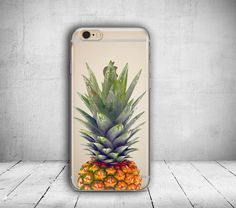 iPhone 6 Case Pineapple iPhone 7 Case Clear iPhone 6S Case iPhone 5S Case iPhone 7 Plus Case iPhone 6 Plus Case Phone Case Gift for Her /117 by PaiBai