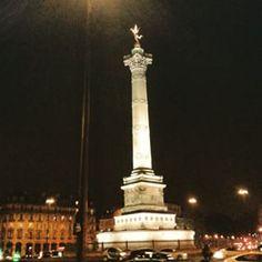 @janettesvn Instagram photos | Probably my favourite part of the #viewfrommywindow #viewoverthewholecity #Bastille #ColonnedeJuillet #PlacedelaBastille #FrenchRevolution #Paris #Paris4 #Parisatnight #Parisjetaime #IloveParis #instafrance #instaparis #igersparis #ig_paris