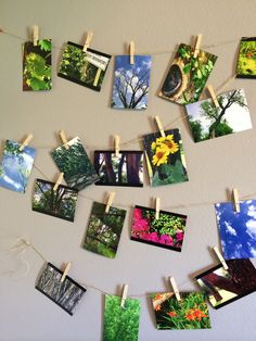 Pictures on string! Cool DIY