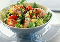Grilled shrimp and corn salad. Top it off with chopped avocado. (Because we all know avocado makes everything better.)