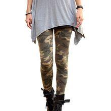 2016 New Značky Dámské legíny s vysokým Elastic Skinny Camouflage Legging jaro-podzim Legíny zeštíhlující Ženy volný čas Pant 3 Colour (Čína (pevninská část))