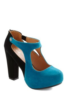 Azure as Fate Heel - Black, Cutout, Party, Statement, Girls Night Out, Colorblocking, Blue, Faux Leather, Platform, High, Chunky heel, Top Rated