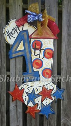 4th of july door hanger craft