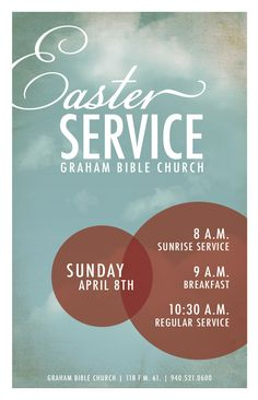 church easter flyer - Google Search
