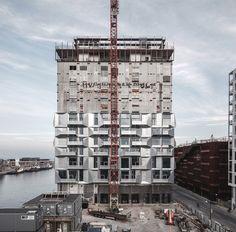 COBE transforms Copenhagen grain silo into apartment block
