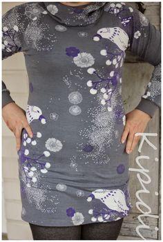 Talvipuutarha -jersey tunic Cold Shoulder Dress, Tunic, Crafts, Dresses, Fashion, Vestidos, Moda, Tunics, Manualidades