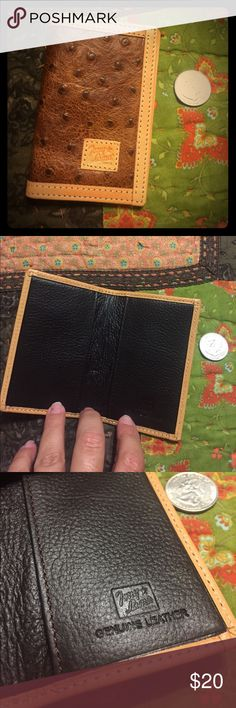 Tony Lama card wallet Brand new, genuine leather (the ostrich is a print on cowhide).  Soft and perfect for holding credit cards and a few dollars...or business cards Tony Lama Bags Wallets
