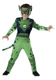 Child Wild Kratts Green Cheetah Costume