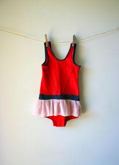 Vintage Tutu Skirt Swimsuit