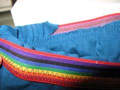 Como coser el elástico por fuera de la tela (visible) manera fácil