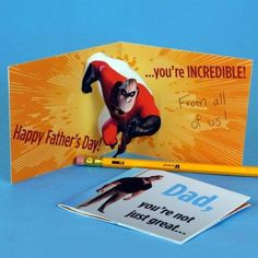 Show Dad just how incredible you think he is with this printable Disney Pixar's The Incredibles pop-up card. | [ http://family.disney.com/craft/mr-incredibles-fathers-day-pop-up-card ]