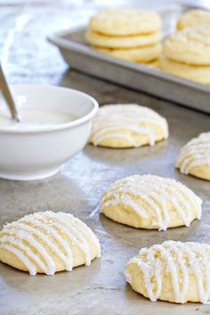 Pound cake cookies are simply delectable. Add a cup of tea or coffee, and you're set!