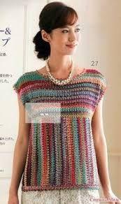 Resultado de imagen para imagenes de blusas tejidas a crochet