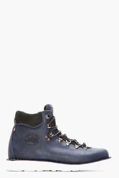 DIEMME Navy Brushed Leather Roccia Vet Boots