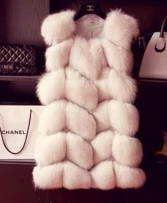 White fur Jacket by Chanel