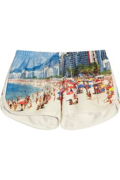 Finds | All Things Fabulous Rio printed cotton-blend terry shorts | NET-A-PORTER.COM