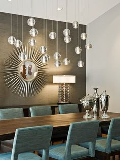 Love these pendant lights. via @Kravet    Kravet Design, Pictures, Remodel, Decor and Ideas. Berlin Side Chairs from Kravet Furniture