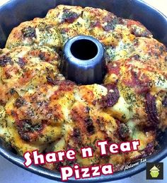 Share n Tear Pizza Bread on MyRecipeMagic.com #pizza #bread #bundt
