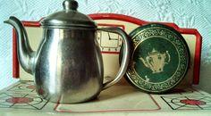 polar alleghany metal ware miniature teapot and tea by EllaBella07, $25.00