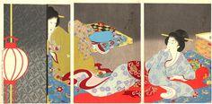 豊原周延: Rest- Shoshin - Japanese Art Open Database