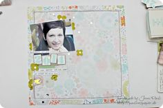 Beautiful layout made with the Sweet Sorbet designer series paper.